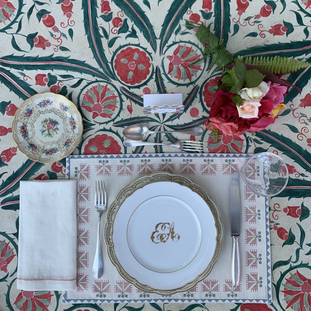 Carnation Placemat Rosewood
