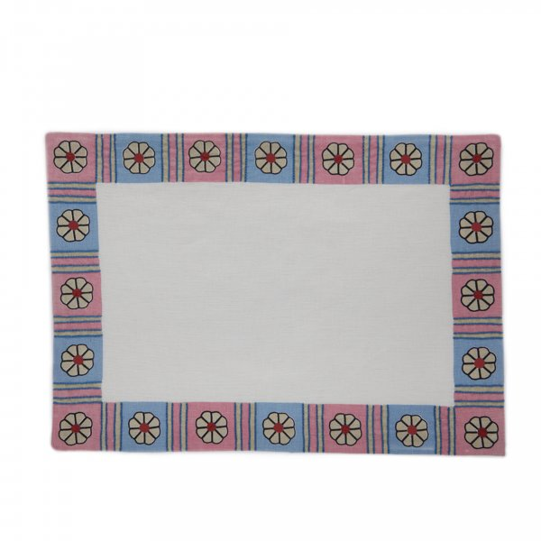 Daisy Chain Placemat Pink