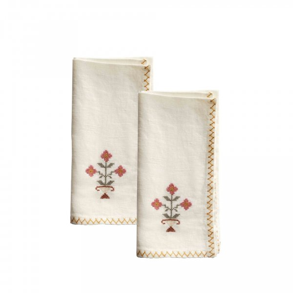 Bouquet Napkin Rosewood, Set of 2