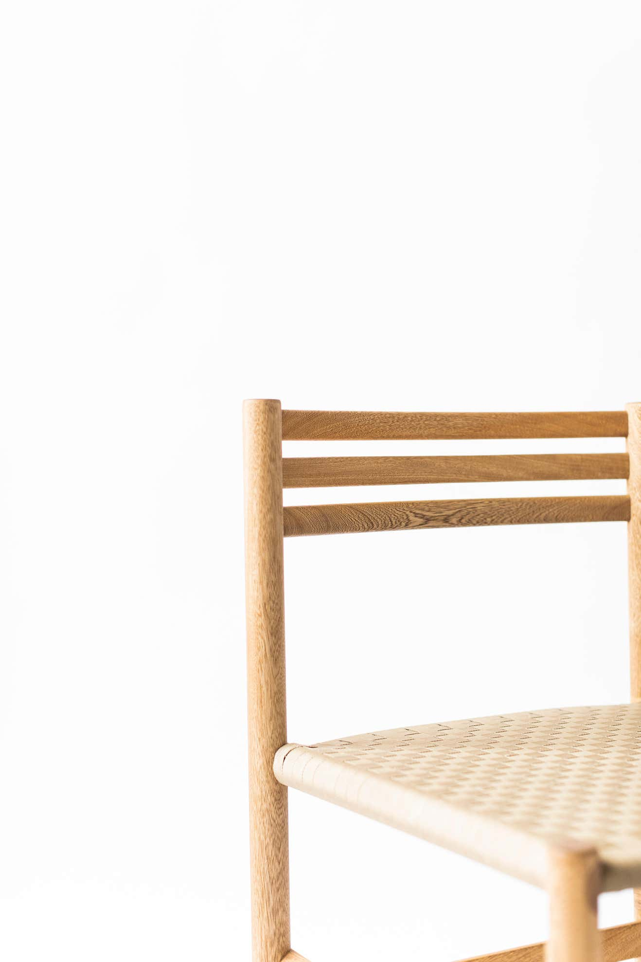 1784 Wooden Chair with Polypropylene Fabric