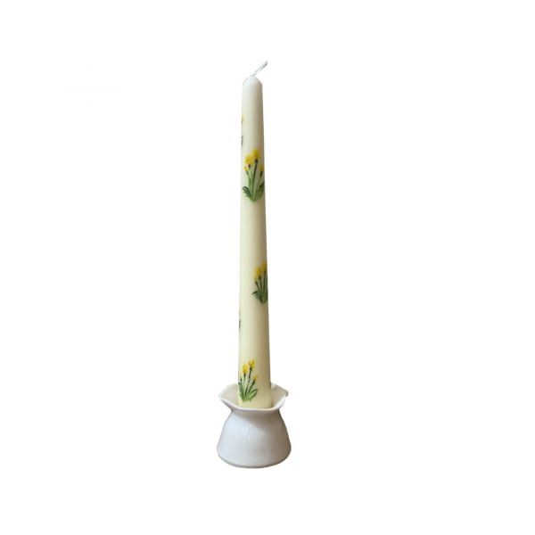 Orna Dandelion Hand Painted Candle