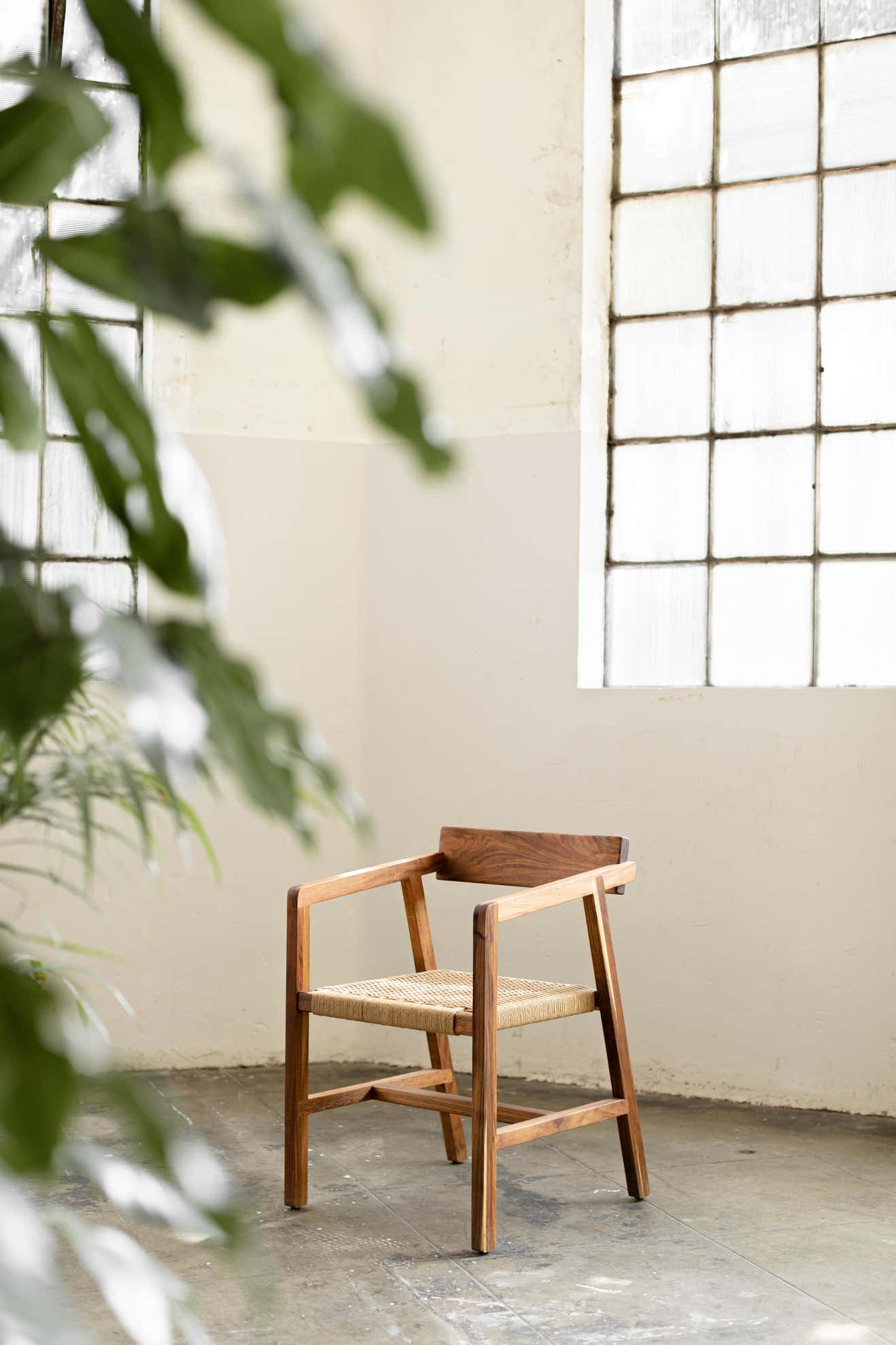 AL Collection Wooden Chair Handwoven