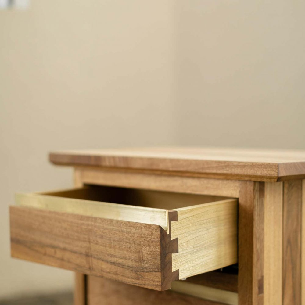 HB Collection Wooden Nightstand