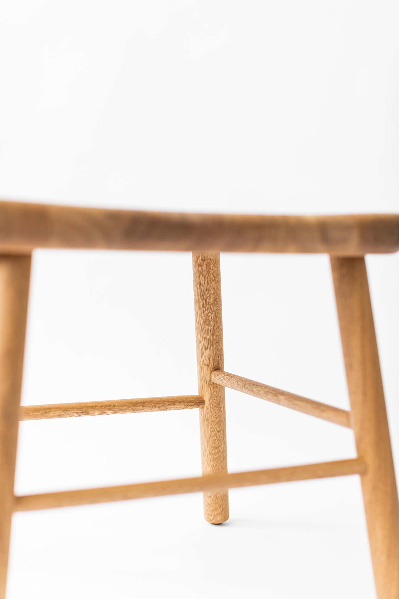 Set of 1784 Collection Wooden Chair and Stool