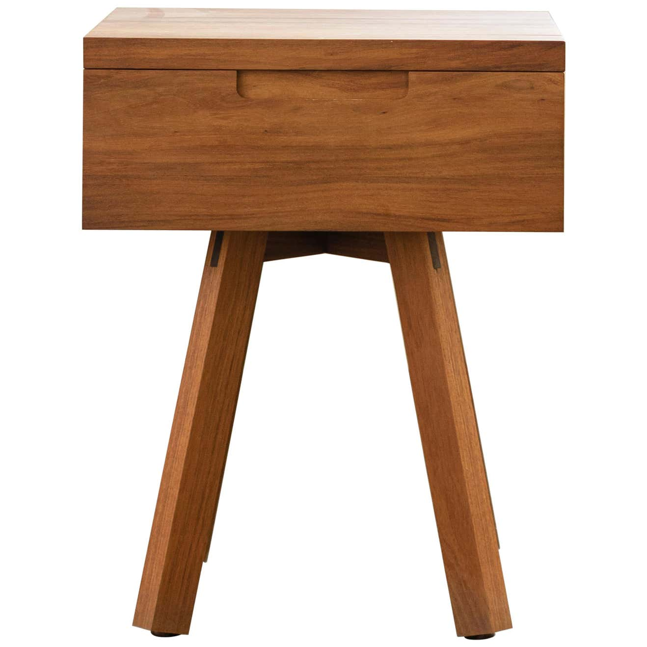 U Collection Wooden Nightstand with Drawer