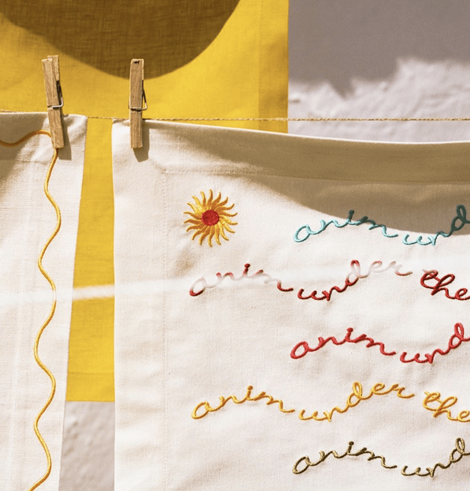 Colomb Sun Embroidered Placemat, Set of 2