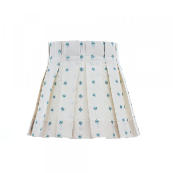 Teal Star Box Pleat Lampshade