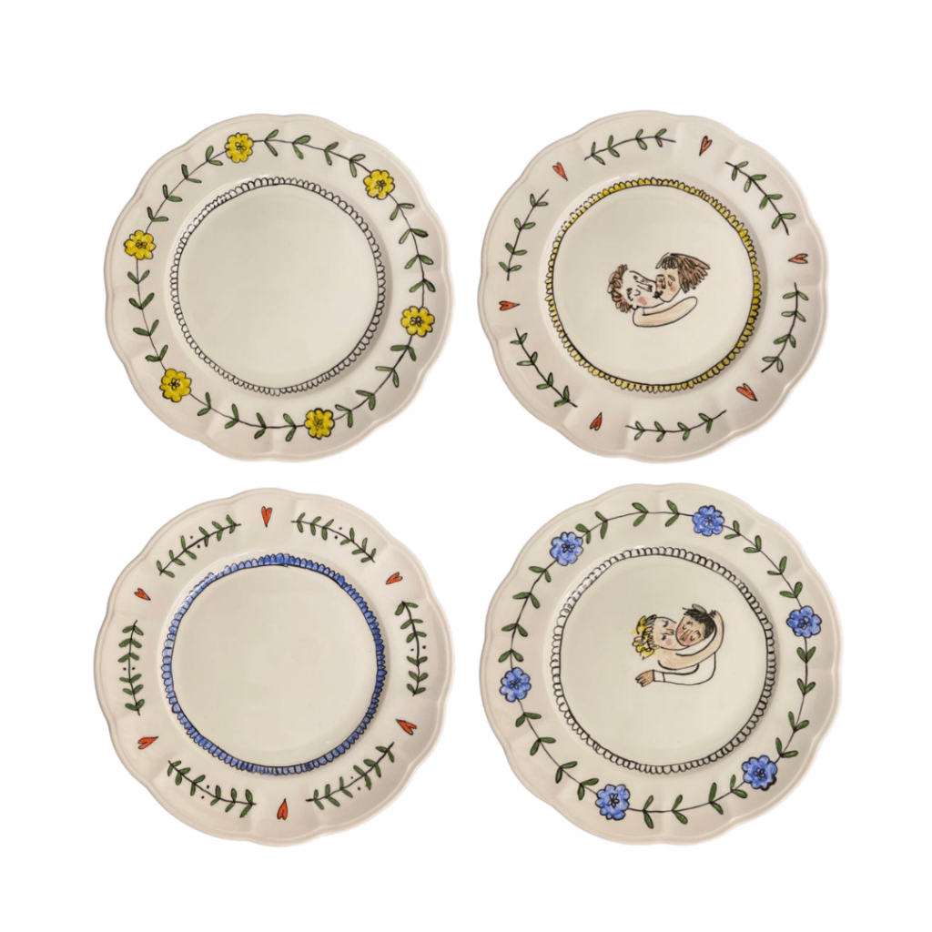 Snogger Small Plates, Set of 4