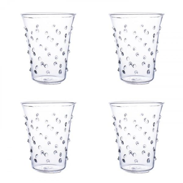 Clear Pom Water Glass – Set of Four