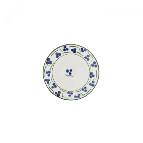 Blue and Green Chintamani Ceramic Small Plate